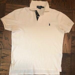Polo Shirt by Ralph Lauren-White Cotton -M